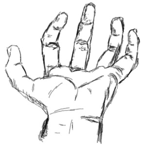 Black and White Pencil of my Left Hand